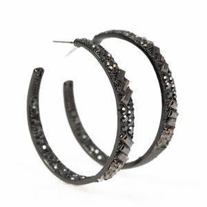 5 for $25 Paparazzi Glitzy Black Earrings